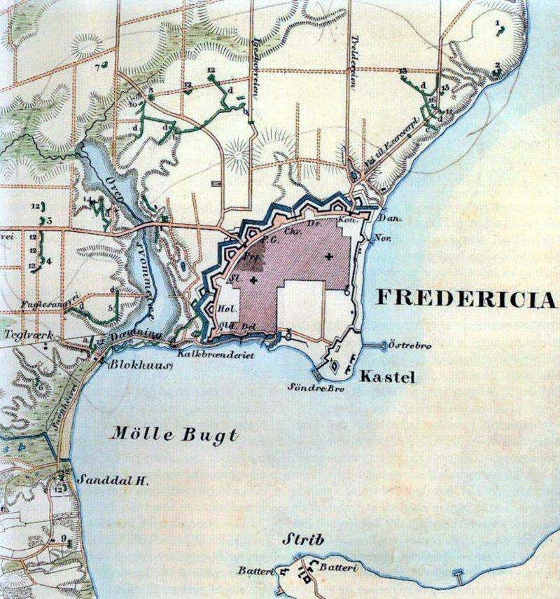 Kort Over Fredericia Centrum   stoffeerderijrozendal